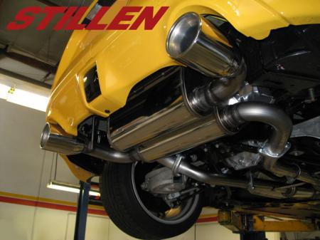 Stillen Stainless Steel Dual Exhaust System - Dual Wall Tips 504355 Nissan  370Z 09-17