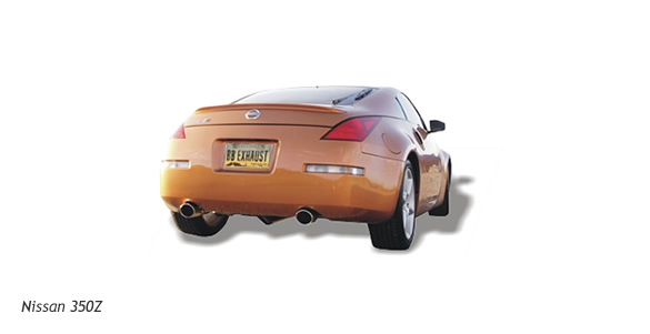 b b performance exhaust system fpim 0075 nissan 350z 2003. Black Bedroom Furniture Sets. Home Design Ideas
