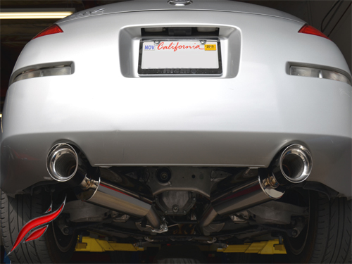 Fast Intentions Round Stainless Steel Cat Back Exhaust System Nissan 350z De 200306: 2003 350z Exhaust At Woreks.co